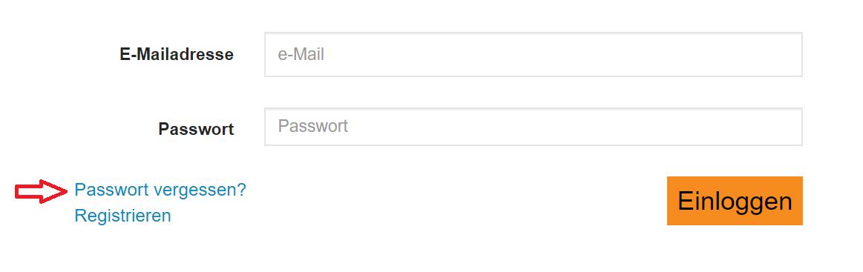 Es gibt eine automatische Funktion, um dein Passwort zu ändern. Du findest den Link in der Anmeldemaske im Login-Bereich.